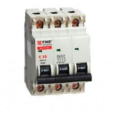 Автоматический выключатель ВА 47-63 3P 20А (D) 4,5kA (аналог ВА 47-29)